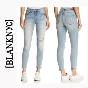 NWT BLANK NYC Distressed Button Fly Skinny Jeans